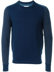 Maison Martin Margiela Maison Margiela Colour Block Sweater Blue