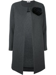 P.A.R.O.S.H. Floral Patch Overcoat Grey