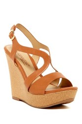 Elegant Footwear Janesa Wedge Sandal Brown