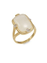 Jude Frances Diamond And Moonstone 18K Yellow Gold Ring