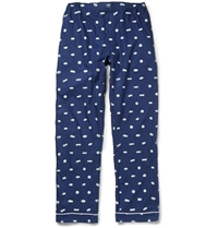 Sleepy Jones Marcel Sleeping Pill Printed Cotton Pyjama Trousers Blue