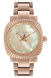 Women's Ted Baker London 'Mini Jewels' Bracelet Watch 26Mm X 31Mm Rose Gold Pink