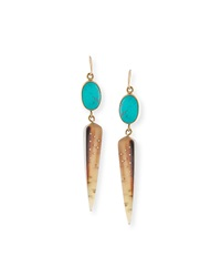 Ashley Pittman Ndani Light Horn Spike Earrings