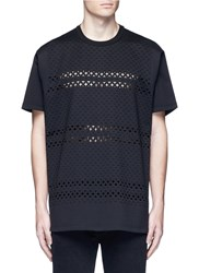 Givenchy Cross Perforated T Shirt Black