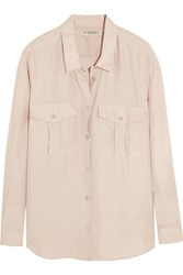 Burberry Washed Silk Shirt Pink