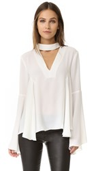 Endless Rose Collar Blouse White