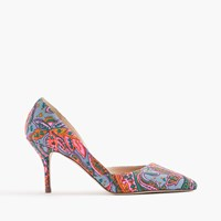 J.Crew Colette D'orsay Pumps In Paisley Bright Pink Multi