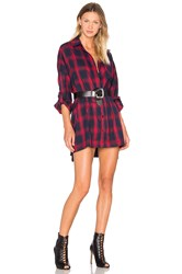 Publish Lynda Button Up Shirt Dress Red