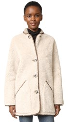 Paul Smith Car Coat Beige Off White