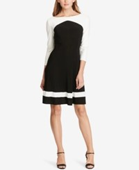 American Living Two Toned Jersey Dress Black White