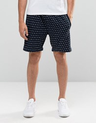 Bellfield Embroidered Shorts Navy