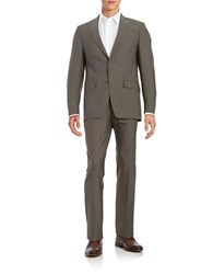 Michael Kors Classic Fit Wool Suit Browned Olive