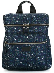 Paul Smith Floral Print Backpack Blue