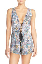 Women's Red Carter 'Free Spirit' Cover Up Romper