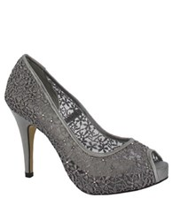 Menbur Macedonia Guipur Peep Toe Pumps Grey
