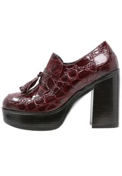 Jeannot High Heeled Ankle Boots Bordeaux