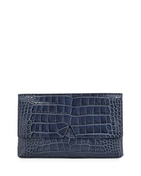 Signature V Crocodile Embossed Clutch Bag Coastal Vince