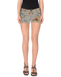 Camouflage Ar And J. Trousers Shorts Women Grey