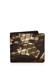Pierre Hardy Camouflage And Cube Print Wallet
