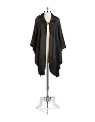 Lord And Taylor Hooded Cape Black Charcoal