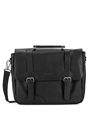Kenneth Cole Columbian Leaf Messenger Bag Black