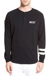 Men's Wesc 'Tilt' Long Sleeve Baseball Henley