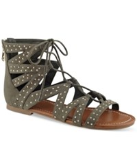 G By Guess Leidah Lace Up Gladiator Sandals Women's Shoes Olive
