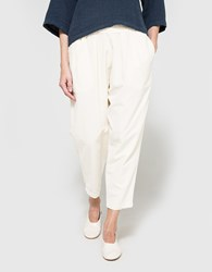 Black Crane Carpenter Pant In Cream