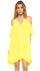 Apiece Apart Appolonia Cold Shoulder Dress Sun Yellow