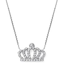 Kc Designs Diamond Crown Pendant Necklace In 14K White Gold .20 Ct. T.W.