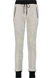 Rag And Bone Lena Boucle Knit Cotton Blend Track Pants White