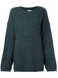 See By Chloe Chunky Knit Jumper Blue