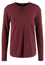 Solid Ference Long Sleeved Top Wine Red