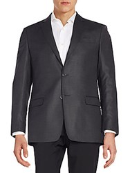 Versace Slim Fit Wool Blend Sportcoat Dark Grey