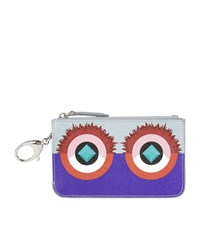 Fendi Crayons Leather Key Case Female Purple