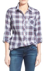 Sandra Ingrish Roll Sleeve Plaid Shirt Regular And Petite