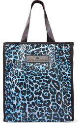 Adidas By Stella Mccartney Printed Coated Shell Tote Blue