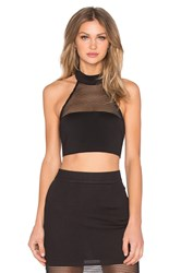 Rise Believe Again Highneck Crop Top Black