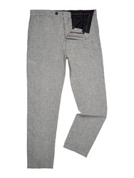 Linea Anderson Linen Trousers Grey