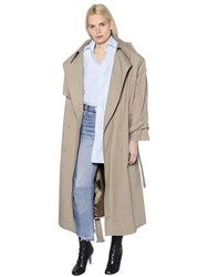 Vetements Oversized Cotton Canvas Trench Coat