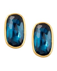 Murano 18K London Blue Topaz Stud Earrings 20Mm Marco Bicego