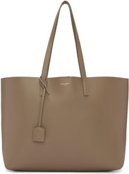 Saint Laurent Taupe Large Shopping Tote Bag