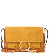 Chloe Faye Small Suede And Leather Crossbody Bag Yellow