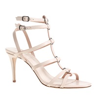 J.Crew Ringed Gladiator High Heel Sandals Classic Ivory