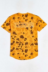 10.Deep Dotted Curved Hem Tee Orange
