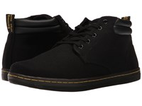 Dr. Martens Maleke Padded Collar Boot Black Overdyed Twill Canvas Men's Pull On Boots