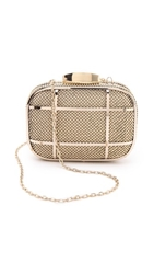 Whiting And Davis Cage Minaudiere Clutch Gold