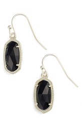 Women's Kendra Scott 'Lee' Small Drop Earrings Black Onyx Gold