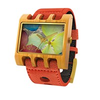 Mistura Wooden Lenzo Watch Orange