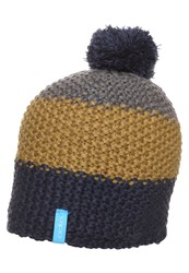 Odlo Chunky Hat Navy New Dull Gold Odlo Steel Grey Dark Blue